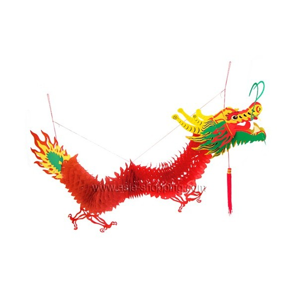 Dragon chinois s rigraphi suspendre 150cm pour decoration asiatique f te d - Decoration nouvel an ...
