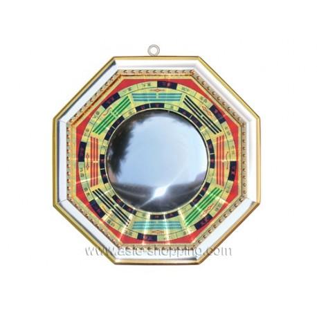 Bagua Feng Shui Jaune Avec Miroir Concave Ou Convexe