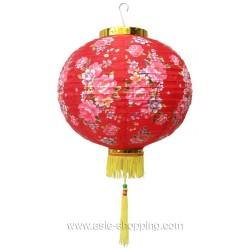 Lampion chinois fleurs de pivoine