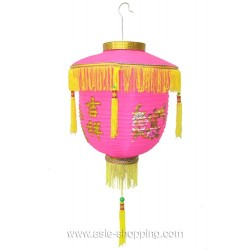 Lampion chinois de palais rose Ø30cm