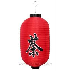 Lampion japonais rouge CHA