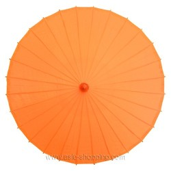 Ombrelle chinoise orange unie