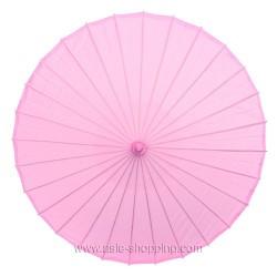 Ombrelle chinoise rose pâle unie