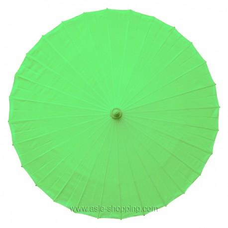 Ombrelle chinoise verte unie