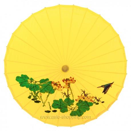 Ombrelle chinoise jaune
