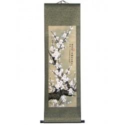 Peinture chinoise prunus en fleurs
