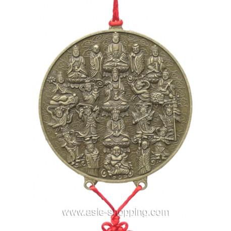 Médaillon bouddhiste à suspendre