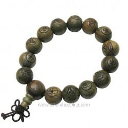 Bracelet bouddhiste en bois de vie