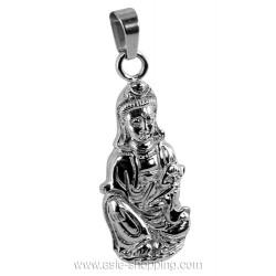 Pendentif Guan Yin en acier inox