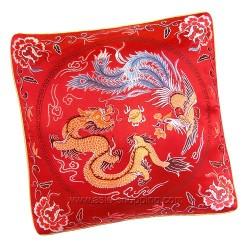 Coussin chinois Dragon et Phénix