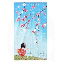 Décoration japonaise Noren Sakura
