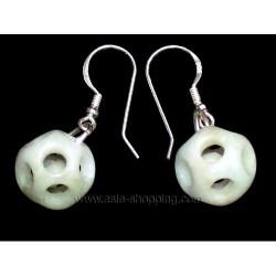 Boucles d'oreille en jade