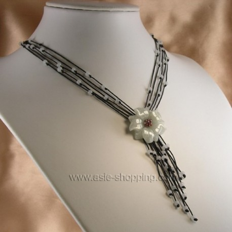 Collier coeur de jade