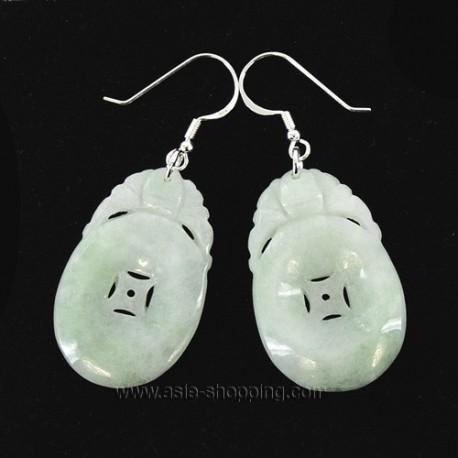 Boucles d'oreille de jade