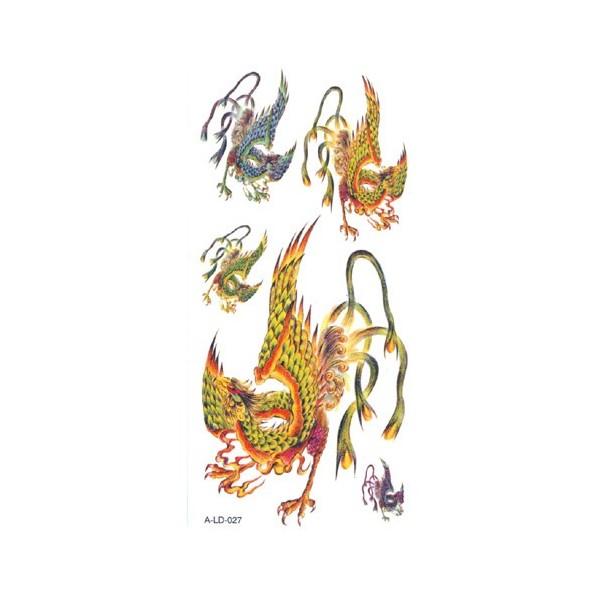 Tatouage chinois ph nix ald027 - Tatouage chinois homme ...