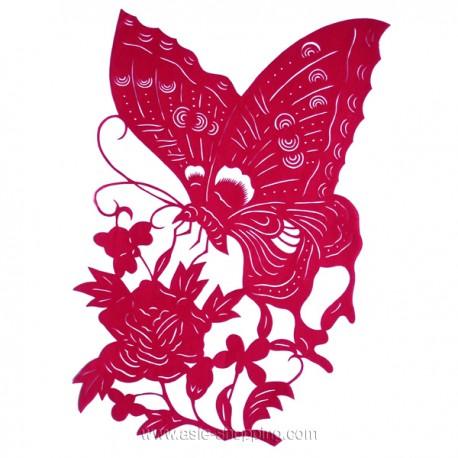 Papier découpé papillon