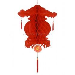 Décoration asiatique boule pagode 60 cm