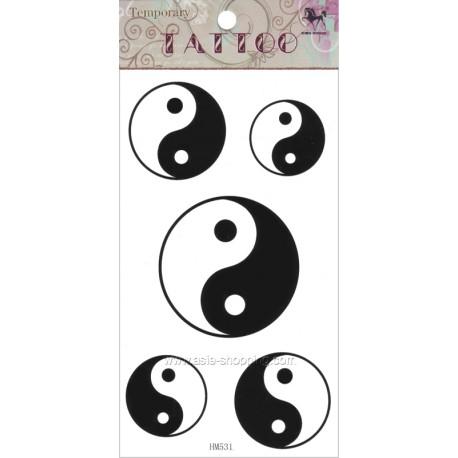 Tatouage Yin Yang temporaire