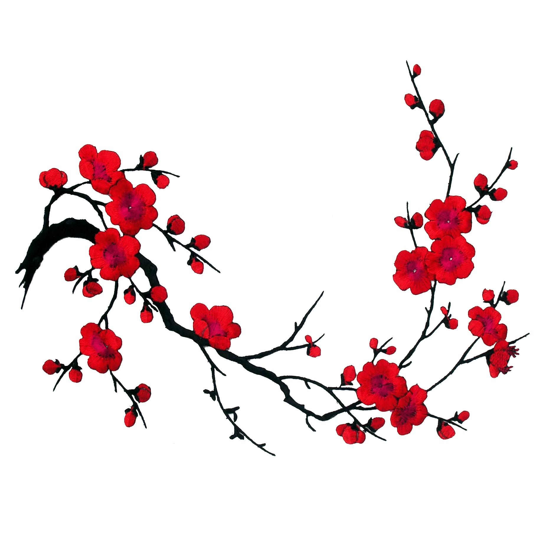 Tatouage branche fleurie galerie tatouage - Branche de cerisier japonais ...