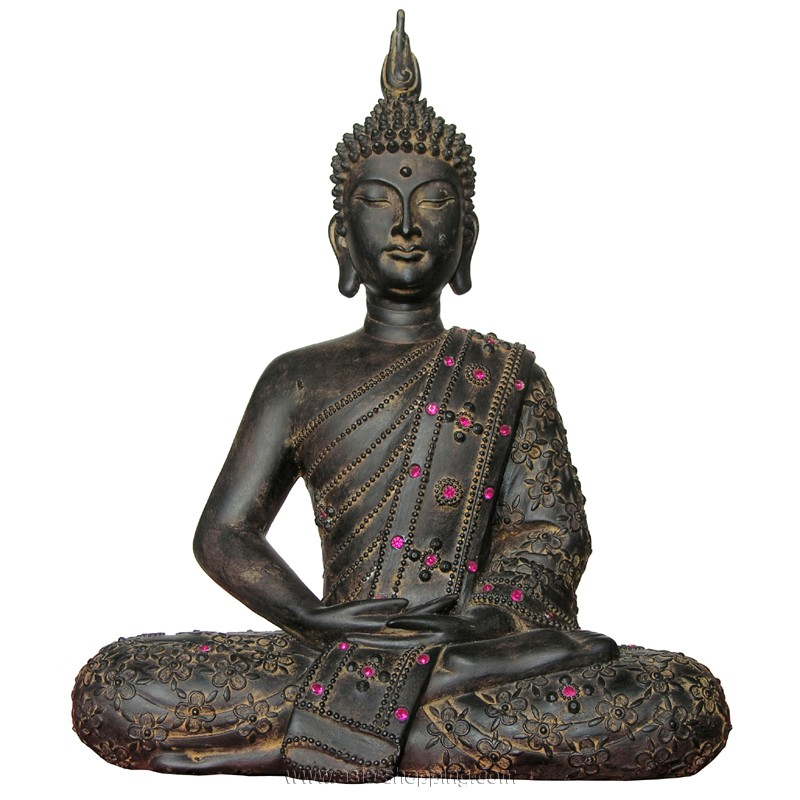 statue de bouddha tha 30 cm d co asiatique. Black Bedroom Furniture Sets. Home Design Ideas