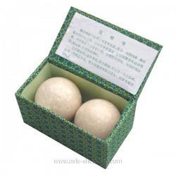 Boules Qi Gong en pierre