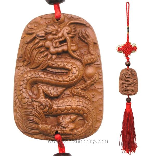 Porte Bonheur D Coration Chinoise D Cor Dragon En Bois