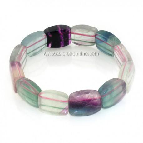 Bracelet en pierre fluorite
