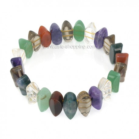 Bracelet en pierres variées