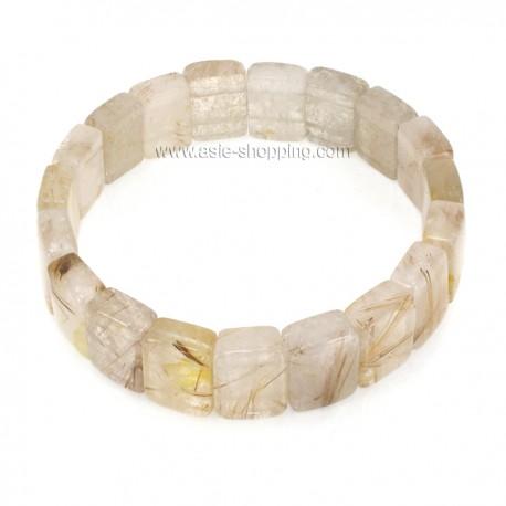 Bracelet en pierre quartz rutile