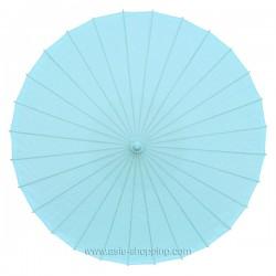 Ombrelle chinoise bleue unie