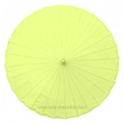 Ombrelle chinoise jaune unie