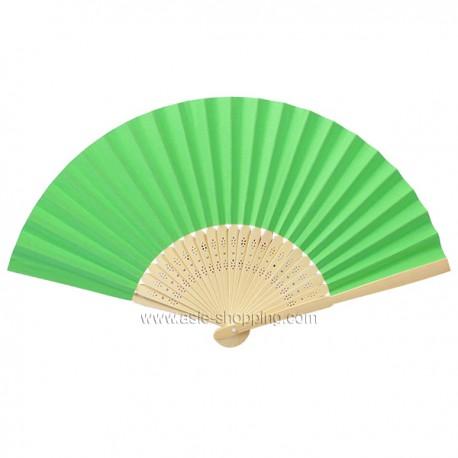 Éventail en papier vert