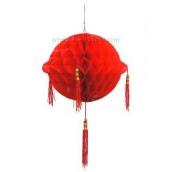 Décoration asiatique boule à pompons Ø15cm