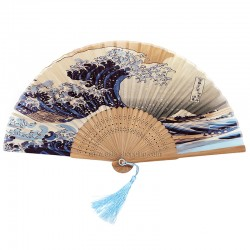 Eventail japonais La Vague de Hokusai