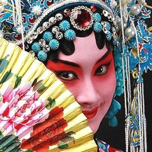 Un éventail chinois d'opéra