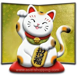 Maneki neko chat porte bonheur japonais - Porte bonheur chinois chat ...