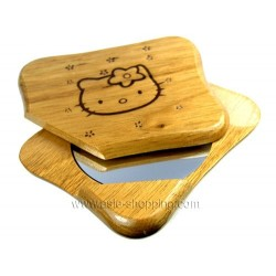 Miroir en bois Hello Kitty