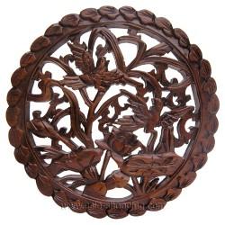 Décor chinois en bois sculpté
