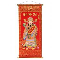 Rouleau chinois CAI SHEN Dieu de la Richesse