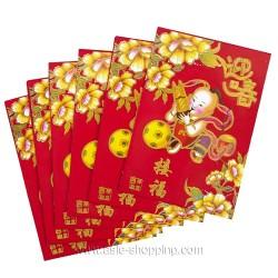 6 pochettes chinoises Li Shi