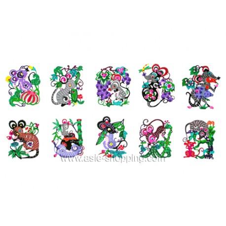 10 papiers découpés souris