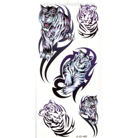 Tatouage tigre temporaire