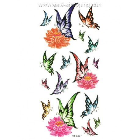 Tatouage papillon temporaire