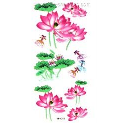 Tatouage fleur de lotus temporaire