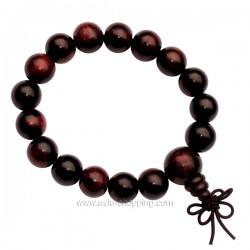 Bracelet bouddhiste en bois rouge