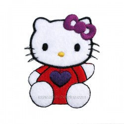 Broderie thermo-collante Hello Kitty