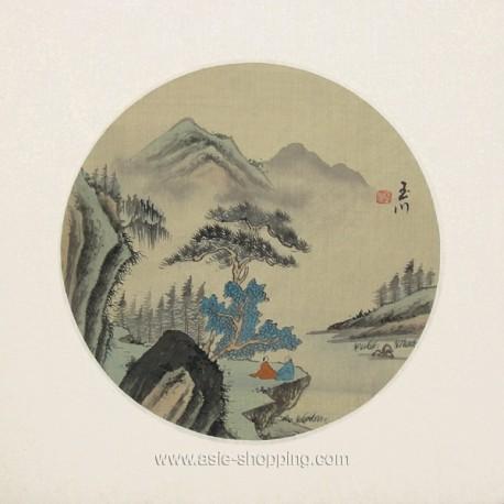 Peinture chinoise oiseaux et fleurs