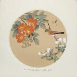 Peinture chinoise oiseau et fleurs