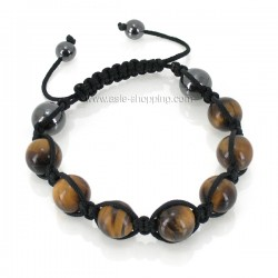 Bracelet shamballa œil de tigre