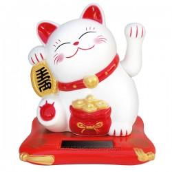 Chat porte bonheur Maneki Neko solaire 10cm